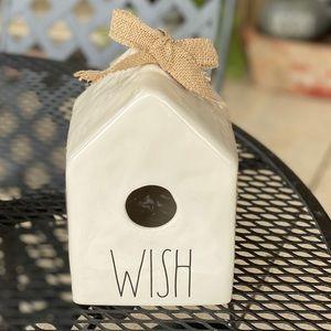 Rae Dunn Wish Square Birdhouse Christmas ceramic